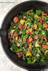 Pan Fried Collard Greens (Couve a Mineira) & How to Clean and Cut Collard Greens