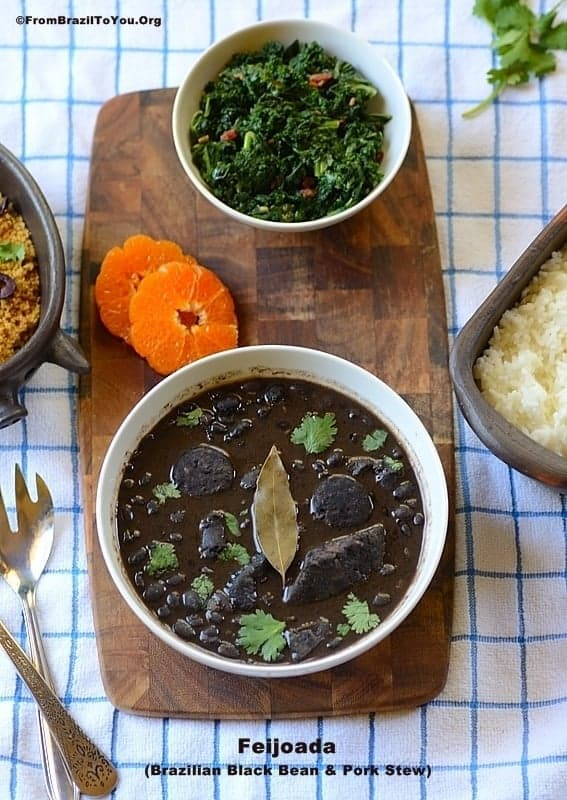 Feijoada (Brazilian Black Bean & Pork Stew) -- The best beans that you will ever have!!!