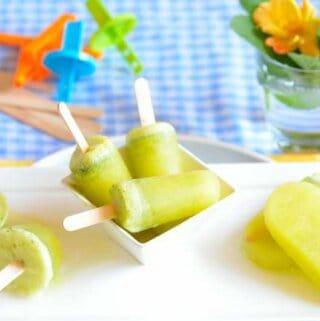 Pineapple -mint-popsicles, Picolé-abacaxi-hortelã