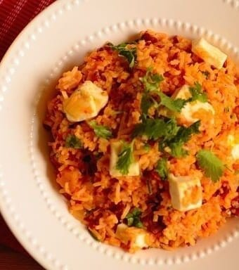 Rice-with-jerked-beef-squash-and-cheese , Arroz-carne-seca-quibebe-coalho
