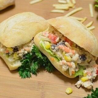Brazilian-chicken-salad, salpicão-de-frango