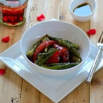 Okra-tomato-salad