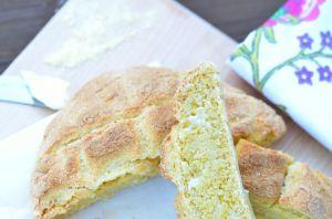Broa or Portuguese corn bread -- close up