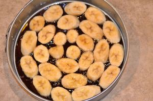 caramelized bananas in a pan