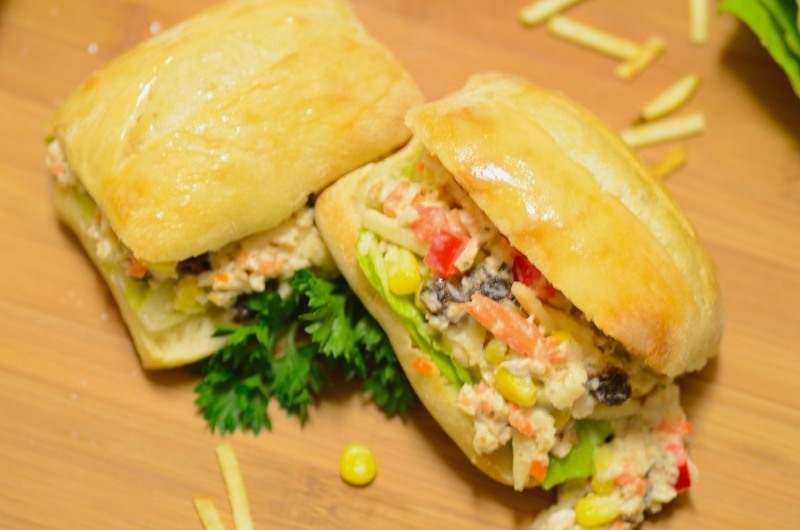 Brazilian-style Chicken Salad/Sandwich (Salpicão de Frango/Sanduíche ...