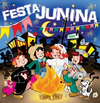 illustration of the June festival in Brazil