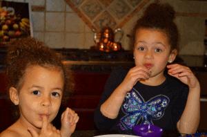 Children eating brigaderios