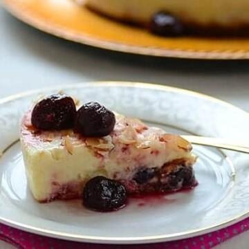 almond-cherry-cheesecake