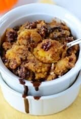 Chocolate-Pumpkin-Pecan Bread Pudding