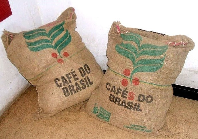 bags of coffee seeds