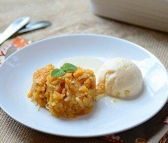 Brazilian Recipe - Coconut Sweet Potato Custard