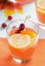 Sparkling Cranberry-Passion Fruit Cocktail