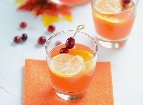 Brazilian Recipe - Sparkling Cranberry Passion Fruit Cocktail