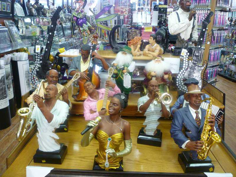 statues in a NOLA store