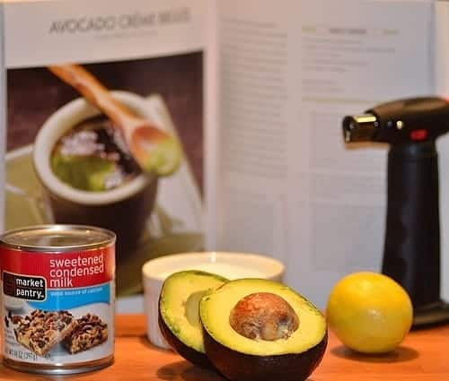 ingredients for avocado creme brulee