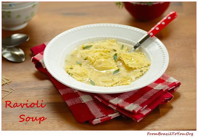 Ravioli Soup (Sopa de Ravióli): Love at first bite!