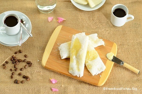 Image of Tapioca crepes filled with cheese