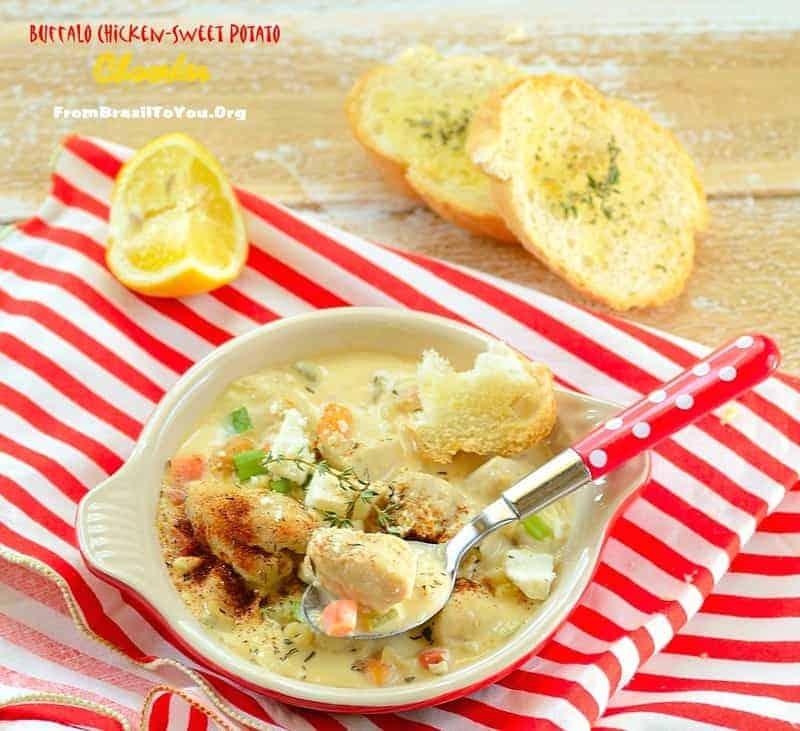 Buffalo Chicken-Sweet Potato Chowder - From Brazil To You