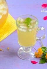 Homemade Pineapple-Mint Iced Tea (Chá de Abacaxi com Hortelã)