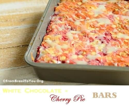 White Chocolate-Cherry Pie Bars