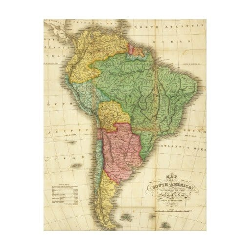 South America Map -- Zazzle