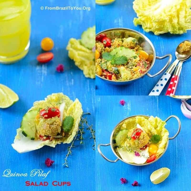 Quinoa Pilaf Salad Cups -- A warm yet fresh, healthy, and delicious salad!!!!