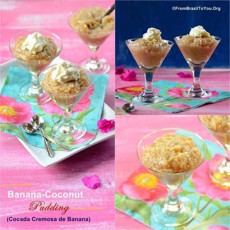Banana-Coconut Pudding (Cocada Cremosa de Banana) -- A tropical, gluten-free treat that is to die for!