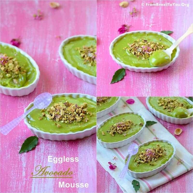 Eggless Avocado Mousse -- Super creamy, delicious, and effortless...An intelligent way to entertaining guests!!!