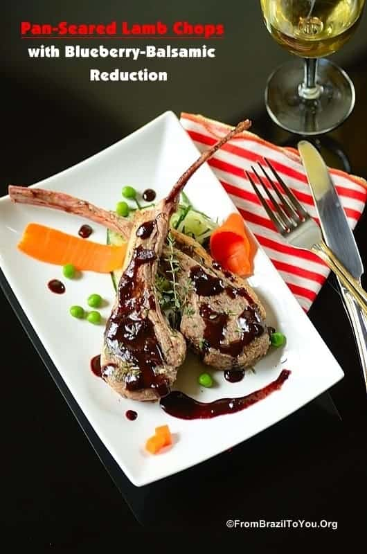 Pan-Seared Lamb Chops with Blueberry-Balsamic Reduction...A quick-to-prepare, made-to-impress restaurant-style dish!!!!