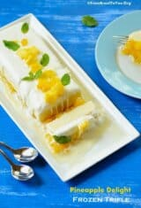 Pineapple Delight Frozen Trifle (Delícia de Abacaxi)