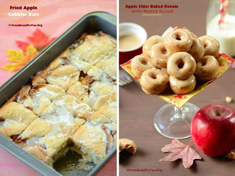 35 Thanksgiving Recipes (Breakfast) -- Fried Apple Cobbler Bars and Apple Cider Baked Donuts
