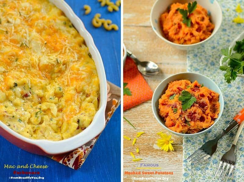 35 Thanksgiving recipes (sides) -- Mac and Cheese Carbonara and Mashed Sweet Potatoes