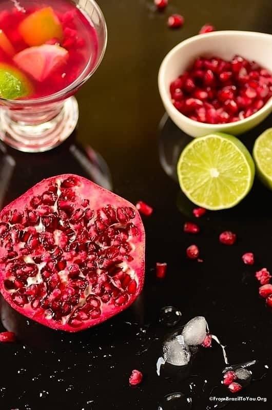 Pomegranate Caipirinha