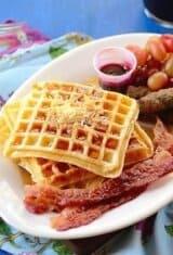 Gluten-Free Waffle Pão de Queijo