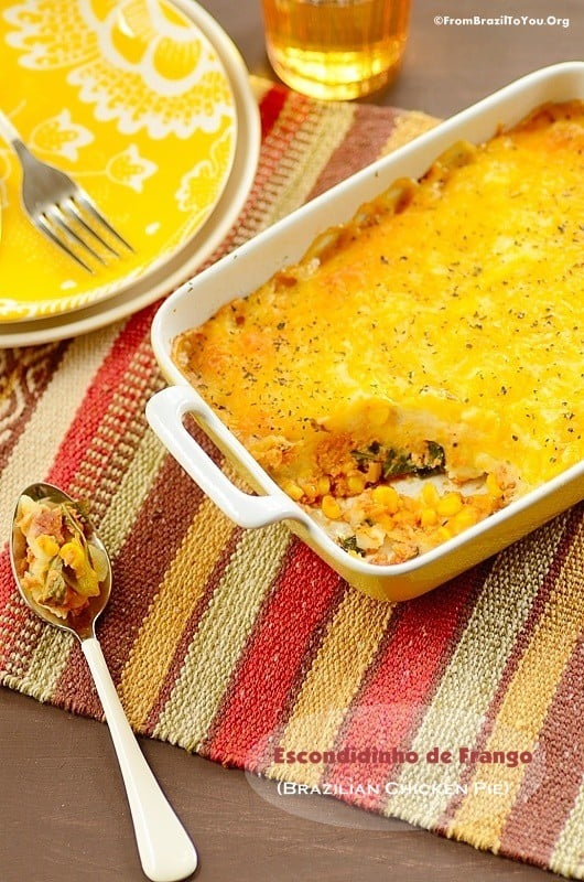 Escondidinho de Frango (Brazilian Chicken Shepherd's Pie)... One dish wonders!!!