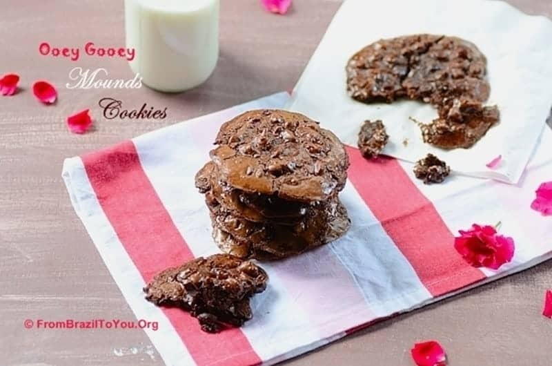 Flourless Ooey Gooey Mounds Cookies -- Flourless and Extremely Addictive!!!!