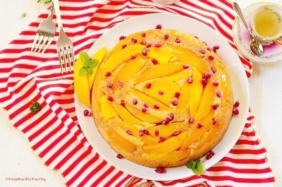 Mango-upside-down-cake