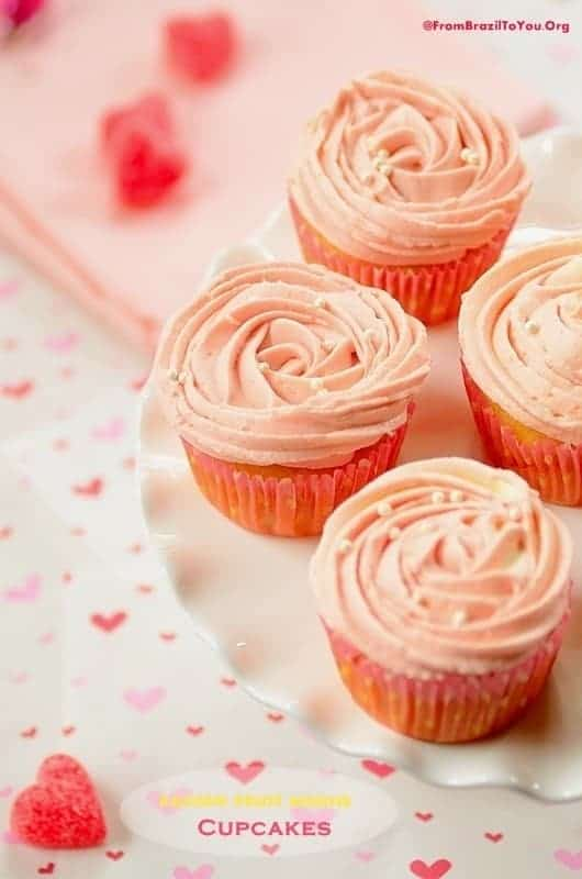 Passion Fruit Mousse Cupcakes... So luscious and perfect for many occasions (Valentine's Day, Baby Showers, and Mother's Day)!