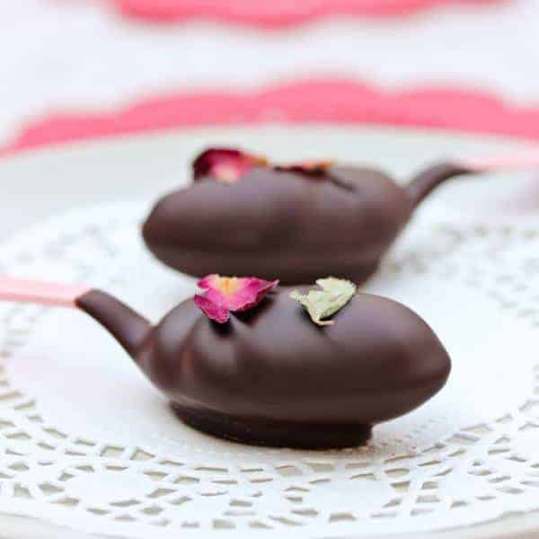 Chocolate and Roses Truffle Spoons by A Spicy Perspective