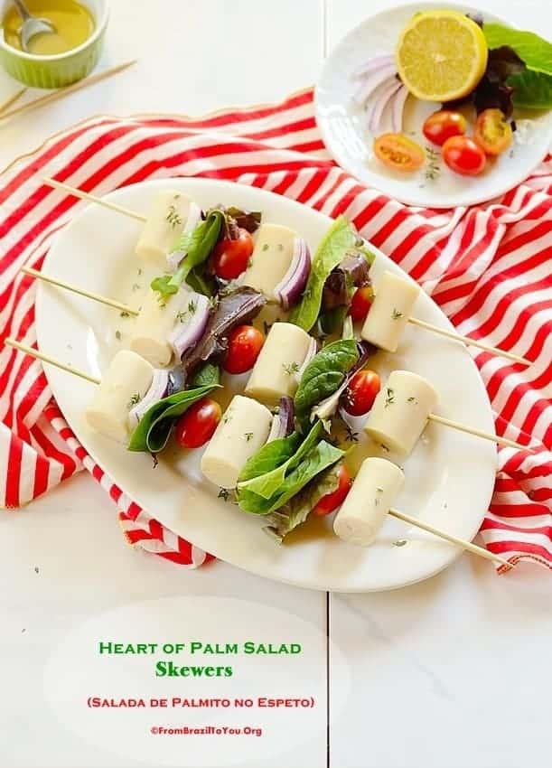 Heart of Palm Salad Skewers (Salada de Palmito no Espeto)