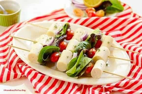 Hearts of Palm Salad Skewers (Salada de Palmito no Espeto)