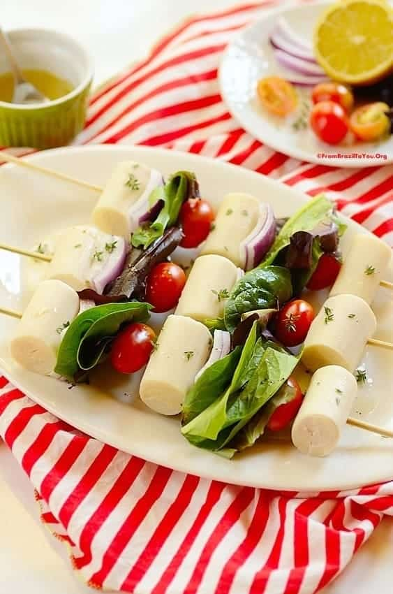 Hearts of Palm Salad Skewers (Salada de Palmito no Espeto)