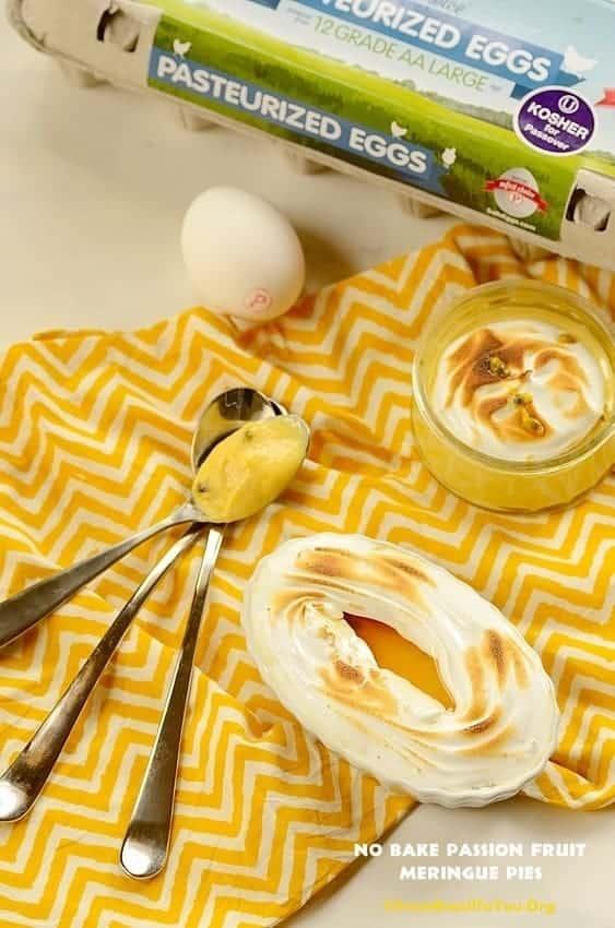 No Bake Passion Fruit Meringue Pies