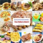 A bunch of different types of foods for Father's Day