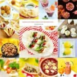 A bunch of different types of Brazilian food in a photo collage