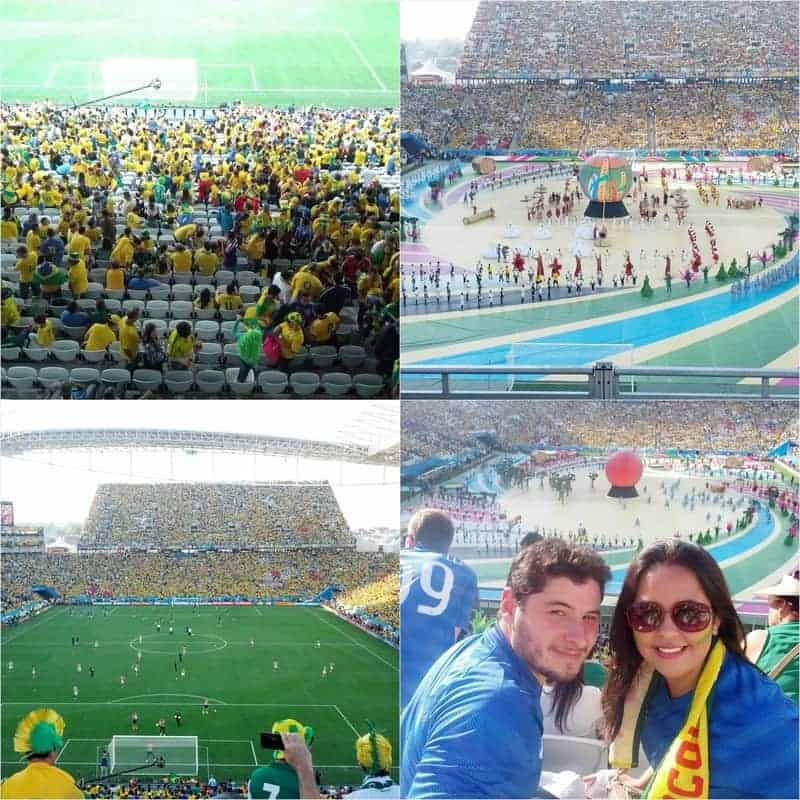 Brazil x Croatia (soccer game) and 2014 opening ceremony -- Photo Credit is courtesy of Fernanda Nogueira.