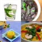 photo collage of Brazilian dishes