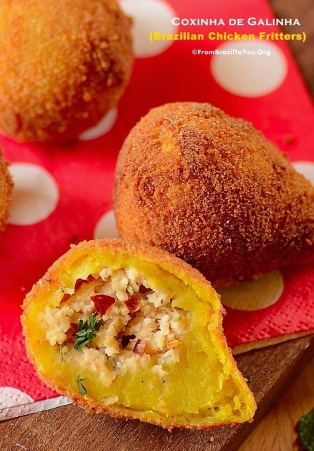 Coxinha de Frango ou Coxinha de Galinha (Brazilian Chicken Fritters)