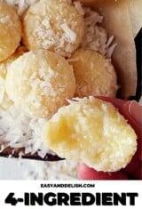 close up of Brazilian coconut balls