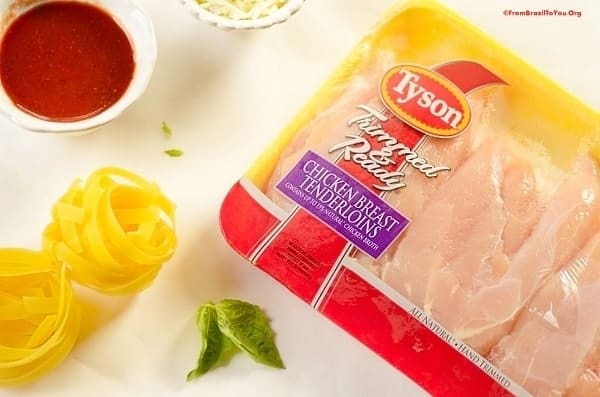 Tyson fresh chicken and ingredients for the Chicken Caserole Nests